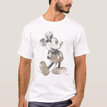 Disney Themed Mickey Mouse Vintage Washout Design T-Shirt