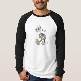 Mickey Mouse Vintage Washout Design T-Shirt