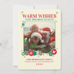 """Mickey Mouse Warm Wishes Holiday Card<br><div class=""""desc"""">Celebrate the Holiday by sending this cute Mickey Mouse Christmas Card to all your family and friends this season. Personalize by adding your favorite family photo and custom text! This Holiday card is perfect for all Disney lovers!</div>"""