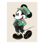 Mickey Mouse | Watercolor St. Patrick's Day Postcard