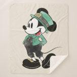 Mickey Mouse   Watercolor St. Patrick's Day Sherpa Blanket