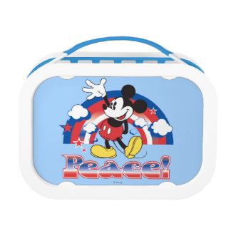 Mickey Mouse With Patriotic Peace Rainbow Yubo Lunch Box