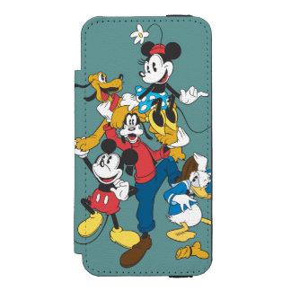 Mickey Mouse y amigos 2 Funda Cartera Para iPhone 5 Watson