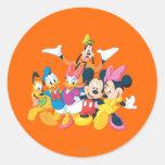 Mickey Mouse y amigos 4 Pegatina Redonda