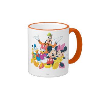 Mickey Mouse y amigos 4 Taza De Dos Colores