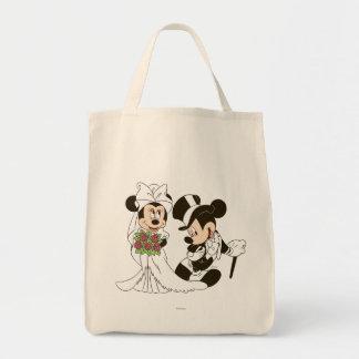 Mickey Mouse y boda de Minnie Bolsa Tela Para La Compra