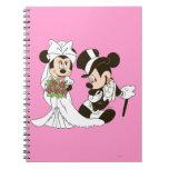 Mickey Mouse y boda de Minnie Cuaderno