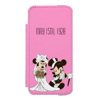 Mickey Mouse y boda de Minnie Funda Billetera Para iPhone 5 Watson