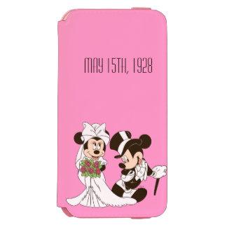 Mickey Mouse y boda de Minnie Funda Billetera Para iPhone 6 Watson