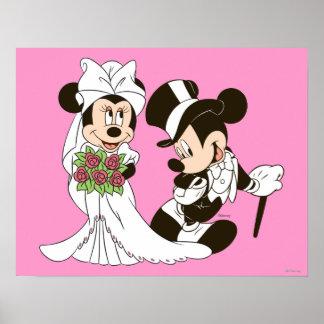 Mickey Mouse y boda de Minnie Impresiones