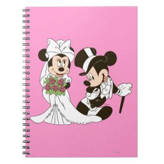 Mickey Mouse y boda de Minnie Libretas