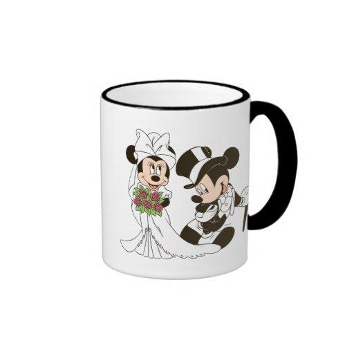 Mickey Mouse y boda de Minnie Taza De Dos Colores