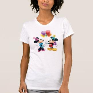Mickey Mouse y cumpleaños de Minnie Camiseta