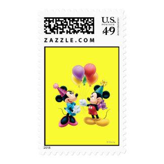 Mickey Mouse y cumpleaños de Minnie Franqueo