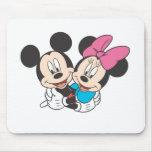 Mickey Mouse y Minnie Alfombrillas De Raton