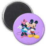 Mickey Mouse y Minnie Imán De Nevera