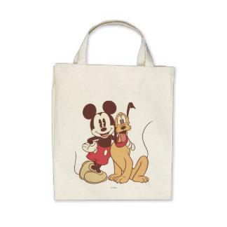 Mickey Mouse y Plutón Bolsa De Mano