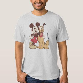 Mickey Mouse y Plutón Camisas
