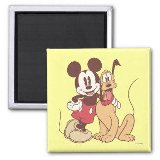 Mickey Mouse y Plutón Imán Para Frigorífico