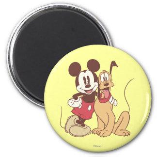Mickey Mouse y Plutón Imanes