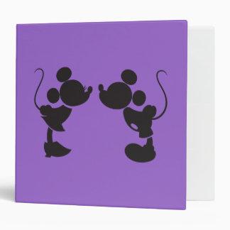 Mickey Mouse y silueta de Minnie