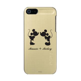 Mickey Mouse y silueta de Minnie Funda Para iPhone 5 Incipio Feather Shine
