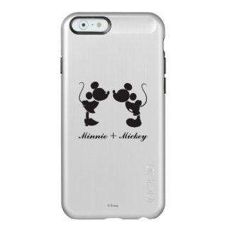 Mickey Mouse y silueta de Minnie Funda Para iPhone 6 Plus Incipio Feather Shine