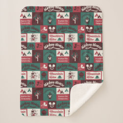 Sherpa Blanket with Mickey Mouse Patterns design