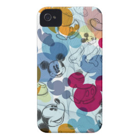 Mickey Pattern 5 iPhone 4 Case-Mate Case