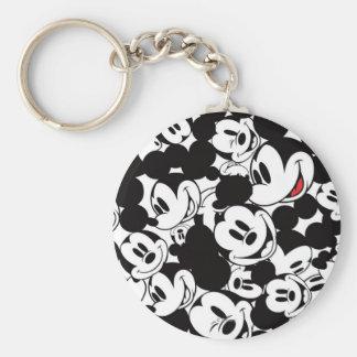 Mickey Pattern 6 Basic Round Button Keychain
