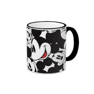 Mickey Pattern 6 Ringer Coffee Mug