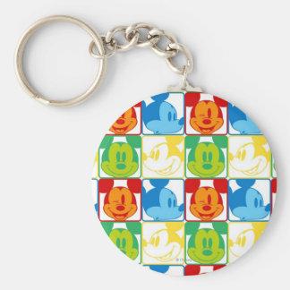 Mickey Pattern 7 Basic Round Button Keychain
