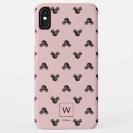 Mickey Pink Icon Pattern - Monogram iPhone XS Max Case