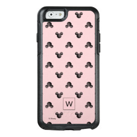 Mickey Pink Icon Pattern - Monogram OtterBox iPhone 6/6s Case