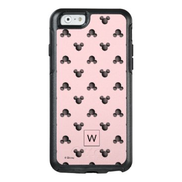 Mickey Pink Icon Pattern - Monogram OtterBox iPhone 6/6s Case