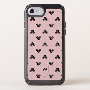 Mickey Pink Icon Pattern - Monogram Speck iPhone Case