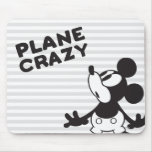 Mickey Plane Crazy 2 Mouse Pad
