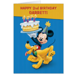 Mickey & Pluto   Birthday Card