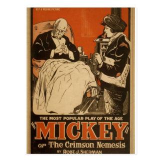 """Mickey, por """"Robt. Teatro retro de J. Sherman"""" Postal"""
