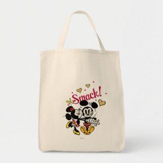 Mickey principal pone en cortocircuito el beso del bolsa tela para la compra
