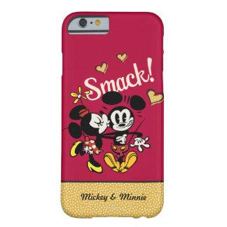 Mickey principal pone en cortocircuito el beso del funda barely there iPhone 6