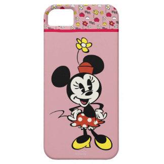 Mickey principal pone en cortocircuito el   Minnie Funda Para iPhone 5 Barely There