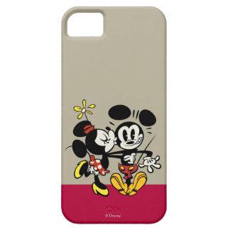 Mickey principal pone en cortocircuito el   Minnie iPhone 5 Fundas
