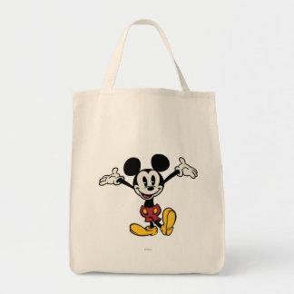 Mickey principal pone en cortocircuito los brazos bolsa tela para la compra