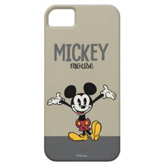 Mickey principal pone en cortocircuito los brazos funda para iPhone SE/5/5s