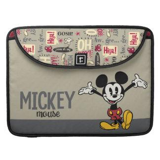 Mickey principal pone en cortocircuito los brazos fundas para macbooks