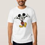 Mickey principal pone en cortocircuito los brazos playera