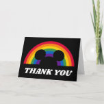 Mickey Rainbow   Thank You Card
