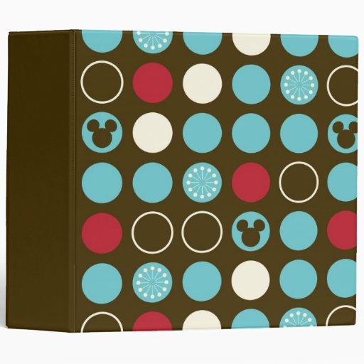 Mickey Retro Polka Dot Pattern Vinyl Binders
