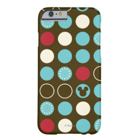 Mickey Retro Polka Dot Pattern Barely There iPhone 6 Case
